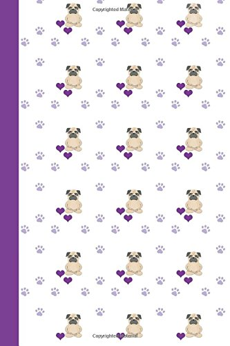 Journal: Dog Yoga (Pug Yoga/Purple) 6x9 - DOT JOURNAL - Journal with dotted pages (Dogs & Puppies Dot Journal Series)