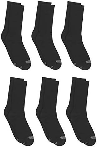 Hanes womens Plush Comfort Toe Seam Crew Sock 6-pack