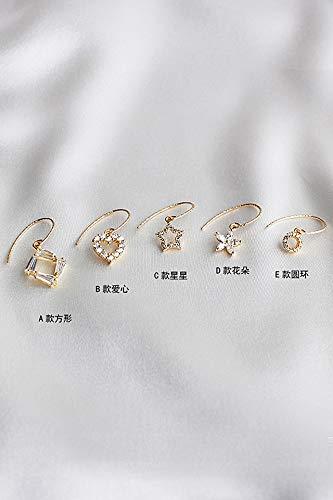 Thai Love You 18k Gold Shiny Earrings earings Dangler Eardrop Women Girls s925 Silver Ear Hook Earring Accessories Korean Personality Creative Gift
