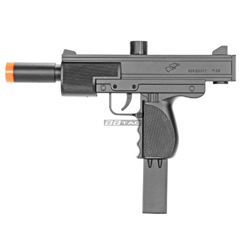 BBTac M36 Airsoft Spring Gun SMG, Powerful 250 FPS with 18 Round (Spring Submachine Gun)