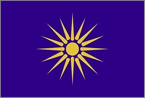 U24 Fahne Flagge Grie sch Mazedonien Stiefelflagge Premiumqualität 120 x 180 cm