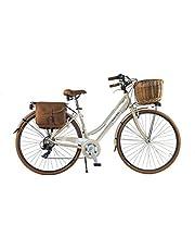 CANELLINI Via Veneto By Bicicletta Bici Citybike CTB Donna Vintage Retro Dolce Vita Alluminio Panna