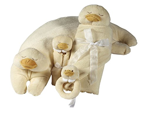 Duck Dear (Angel Dear Duck Pillow, Blankets and Rattle 4 Pcs Gift Set)