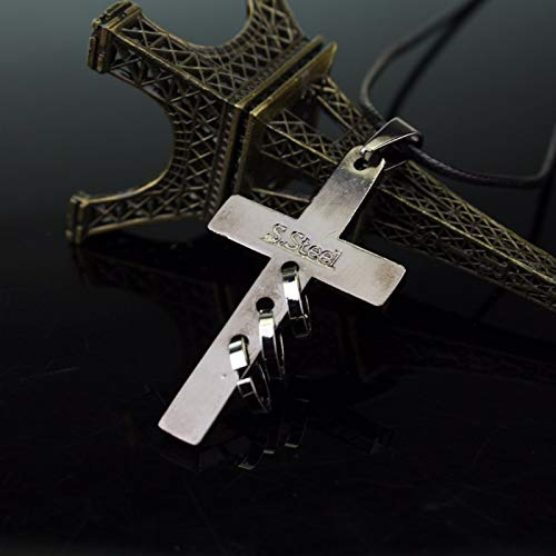 Necklace for Men Anime Death Note Black Gold Metal Necklace Cross Logo Pendant Cosplay Accessories Jewelry