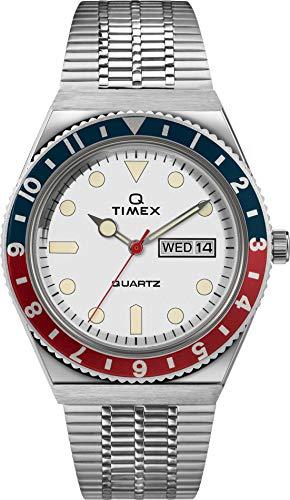 TIMEX Q Reissue Analog White Dial Men #39;s Watch TW2U61200