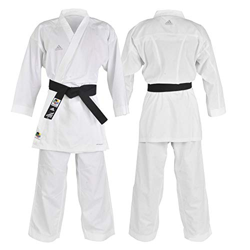 Kimono Karatê Adidas de Kumite Fighter com selo WKF 185