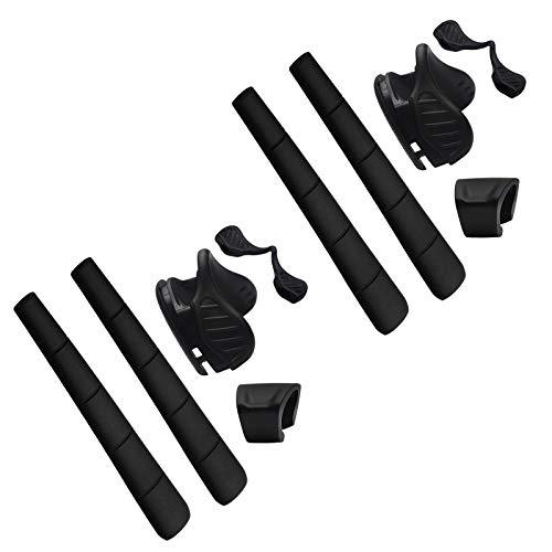 BlazerBuck Replacement Earsocks & Nosepieces & Frame Clip for Oakley M Frame 2.0 Strike Sunglass - Black + Black
