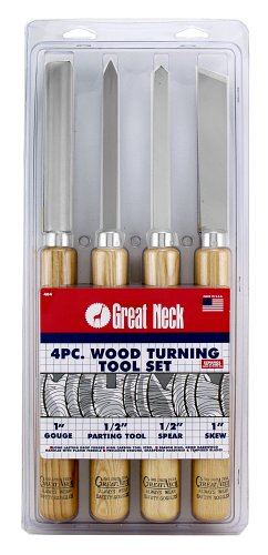 Great Neck 40964 4 Piece Wood Turning Tool Set Great Neck Saw