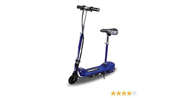 Patinete electrico para Niños - Azul Plegable con Asiento Scooter Mini con Silla y Acelerador