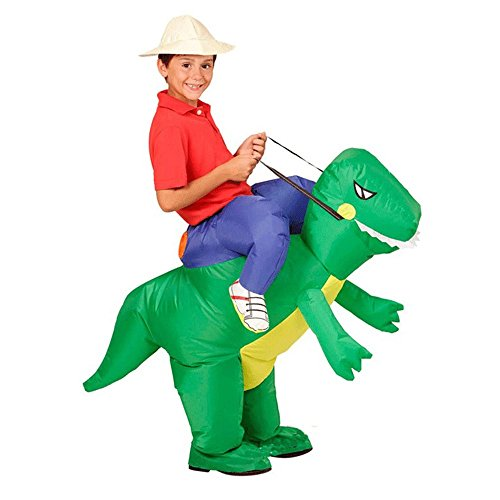 [T-Rex Dinosaur Inflatable Halloween Dress Party Costume Dino Rider Kid Adult (Kid)] (Bull Rider Costume Toddler)