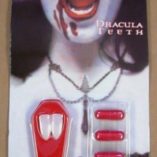 Amazon.es: Dientes de Drácula con cápsula de líquido rojo: Juguetes y juegos