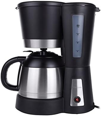 Tristar CM-1234 Cafetera Acero Inoxidable y Capacidad para 1 litro, para hasta 10 Tazas de café, 800 W, Filtro extraíble, Elemento antigoteo, Negro, Jarra de 1 l: Amazon.es: Coche y moto