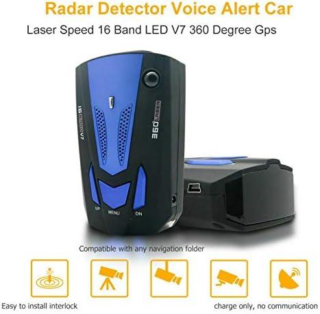 Blue Car 16 Band V7 360 Degree GPS Speed Safety Anti-Laser ...