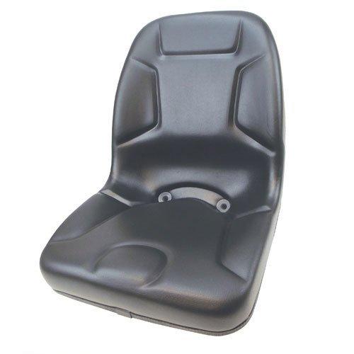 Seat High Back Vinyl Black Kubota Yanmar Massey Ferguson Mitsubishi White Satoh Mahindra Hesston Rhino Kumiai 35 220 L275 L235 L2850 L345 L185 M4500 B8200 L4200 L175 L2550 L2350 210 L3600 L225 L2900