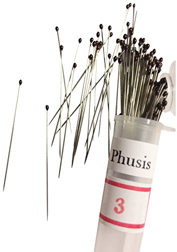 Phusis Stainless Steel Insect Pins - Size #3 - Set of 100 - for Entomology, Dissection and Butterfly Collections (#3)...