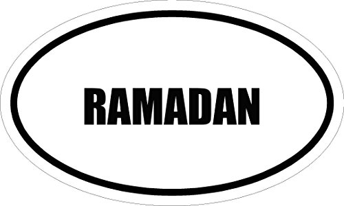 """Price comparison product image 6"""" printed RAMADAN name oval Euro style vinyl decal sticker"""