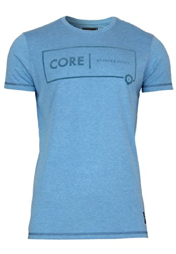 "Jack & Jones Herren T-Shirt ""SIMPLE TEE S/S CORE"" dress blues/melange"