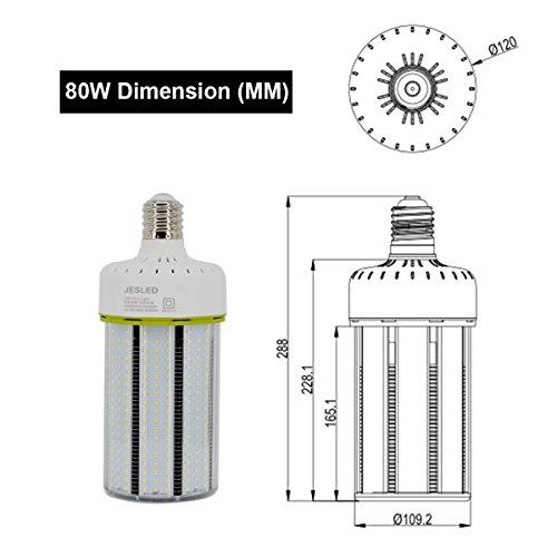 JESLED 150W LED Corn Light Bulb, Large Mogul E39 Base, 20250 Lumens, 5000K Daylight, Replacement for 1000W Equivalent Metal Halide Bulb, HID, CFL, HPS by JESLED (Image #1)
