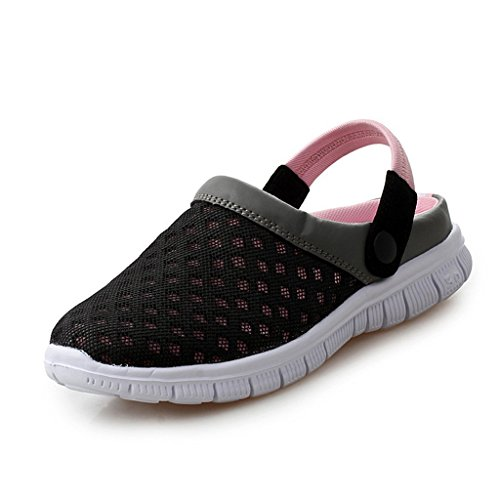 35 45 EU Slippers Strap Clogs Beach Toe Summer Mesh Uisex Closed on Slip Cloth Breathable Lightweight Juleya Mules Pink Plastic Shoes Garden Indoor with Mens Womens Sandals Shoes FSWcwnq4d