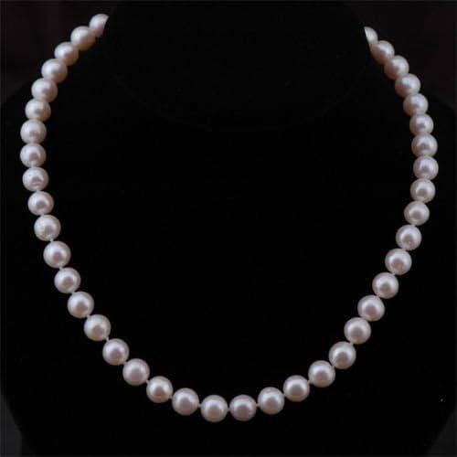 Qualit/é AAA 8 bracelet et boucles doreilles bijoux Set avec fermoirs magn/étique Choix de 40,6/cm 45,7/cm 50,8/cm diff/érence longueurs/ 9/mm Ellena perle collier /Pr/ésent/é dans u