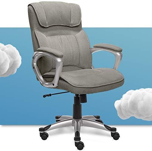 Serta Executive Office Chair Ergonomic Computer Upholstered Layered Body Pillow