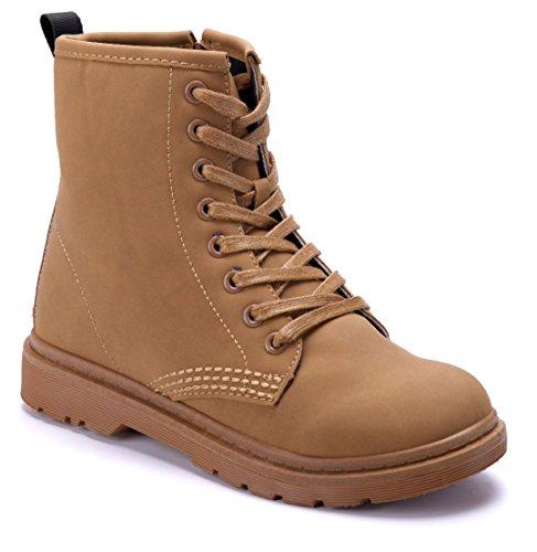 6e42429b94fd 3 Schuhtempel24 cm Blockabsatz Damen Stiefeletten Camel Stiefel Schuhe  Klassische Boots Rwxv0waq4 ...