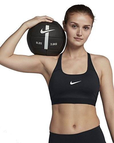 Women's Nike Classic Strappy Sports Bra (Black, L) by Nike (Image #1)