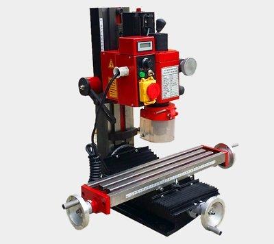 Mophorn Mini Milling Machine 2500PRM 550W Variable Speed Milling Drilling Machine Digital Display Adjustable Stops Gear Drive Motor Micro Milling Drilling Machine (550W 2500PRM Machine)