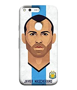 ColorKing Football Masherano Argentina 01 Multicolor shell case cover for Google Pixel XL