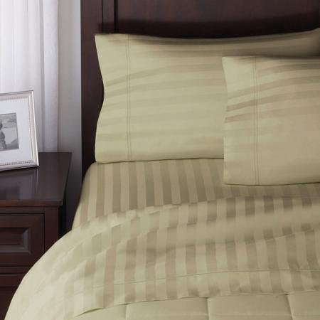 Better Homes and Gardens 300 Thread Count Wrinkle Free Damask Stripe Sheet Set - GRAY from Better Homes & Gardens