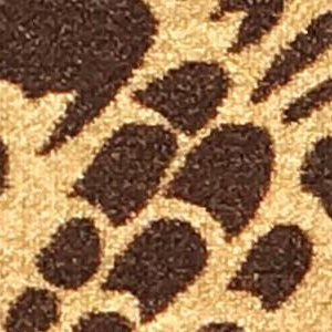 3-feet X 5-feet Non-Skid Rubber Backed Area Rug | BROWN - IVORY FLORAL Modern Rectangle Rugs 3X5 by Qute Home (Image #1)