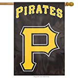 ": Party Animal Pittsburgh Pirates ""P"" Banner MLB Flag"