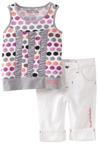 Kenneth Cole Baby Girls' Dots Top And Capri Pant