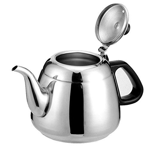 Kettle Cuisinière à induction bouilloire acier inoxydable pot romain petite théière Silver 1.2l