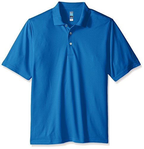 PGA TOUR Men's Big and Tall Short Sleeve Airflux Solid Polo Shirt, Classic Blue, XLT ()