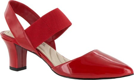 Easy Street Women's Vibrant Dress Pump, Red Patent, 8 2E US