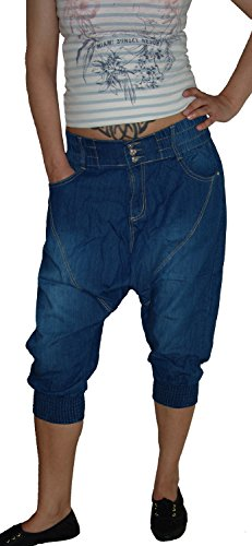 Harem Blau Vaqueros B para Jeans Mujer Used S HUW4tT