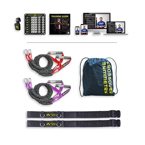 Crossover Symmetry Athletic Individual Package with Door Belts - Shoulder Health and Performance System. Perfect for Fitness, Warmups, Arm Care, Rotator Cuff Exercises or Rehab