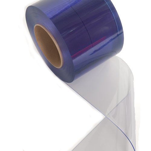 Smooth Strip Door - Aleco 171105 Clear-Flex II PVC Standard Smooth Strip Door Bulk Roll, 150' Length x 8