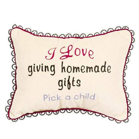 Leyla's Pillows Velvet Homemade Gifts Decorative Pillow, Gag Gift, Crème-Colored, 10
