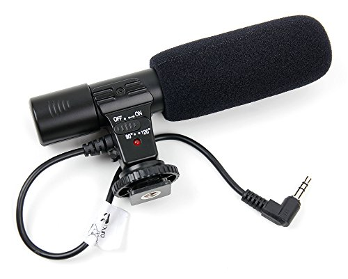 DURAGADGET Stereo SLR Camera Microphone for The Blackmagic Pocket Cinema Camera 4K