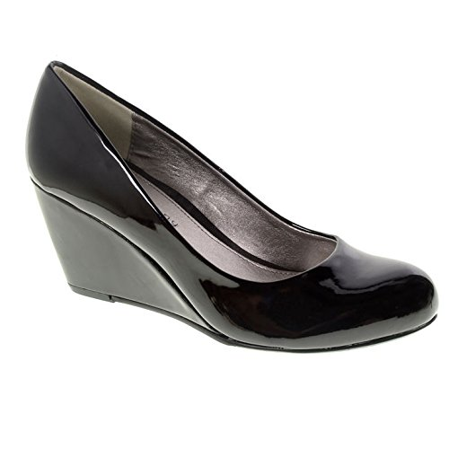 CL by Laundry Women's Nima Patent Wedge Pump - Black Pate...