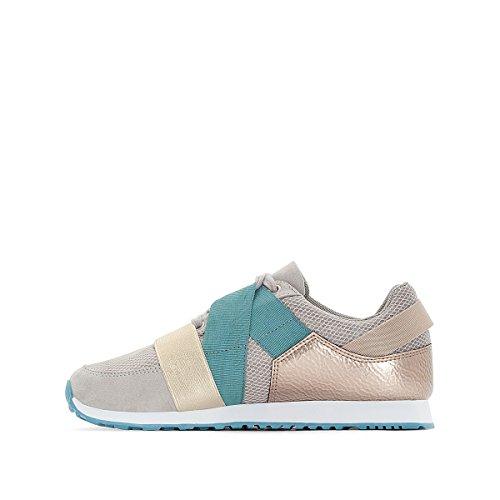 La Redoute Collections Frau Ultraleichte Sneakers mit Dehneinsatz Gre 38 Grau