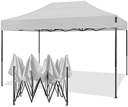 AMERICAN PHOENIX Canopy Tent 10×15 Outdoor Pop Up Easy Portable Instant Wedding Party Tent Event Commercial Fair Car Shelter Canopy White