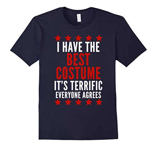 Mens I Have The Best Costume T-Shirt Funny Trump Halloween Tee XL Navy - Best 90's Costumes