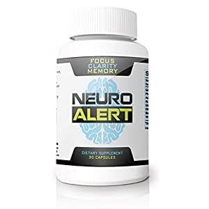 Neuro Alert - Give your Memory, Focus & Concentration Abilities a Healthy Boost * Get Stuff Done & Stop Forgetting Names, Faces, & Tasks * Enjoy Cognitive Clarity Without the 'Brain Fog' * Potent Amino Acids & Antioxidant Combination in 1 All Natural Herbal Dietary Nutritional Supplement * 365 Day Money Back Guarantee!