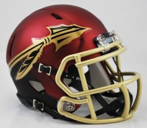 Florida State Alternate Garnet Riddell Speed Mini Football Helmet