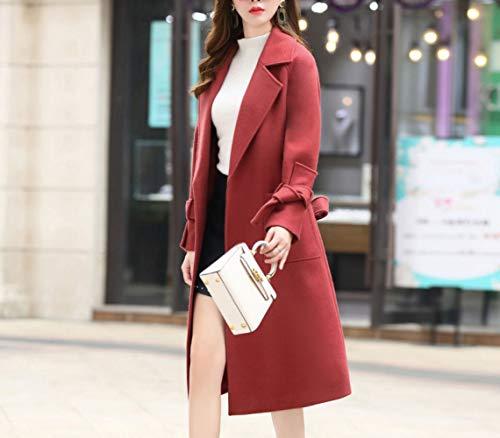 inverno donna e cotone a Ab caldo donna da di autunno inverno lana autunno lunga rossa giacca signore Cappotto vento di IwwqHp8X
