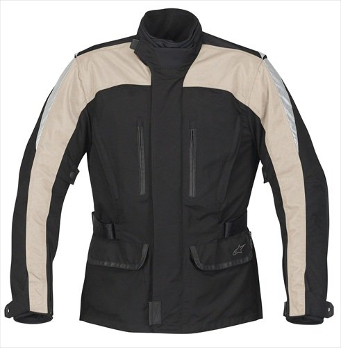 Alpinestars Scout Touring Drystar Jacket, Black/Creme, Size: Md, Apparel Material: Textile