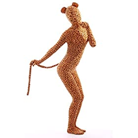 - 41KK8Lw cGL - Animal Costume Leopard Pretend Play Rabbit Ear Kids Zentaisuit Lycra Spandex Bodysuit